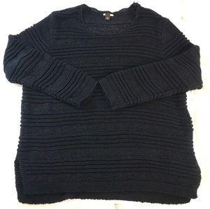 Dana Buchman black knit scoop neck sweater